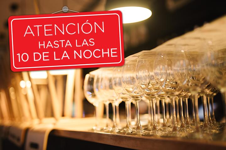 Se solicitará a los restaurantes que sirven alcohol que acorten su horario de atención hasta las 10 de la noche (hasta el próximo 17 de diciembre.)