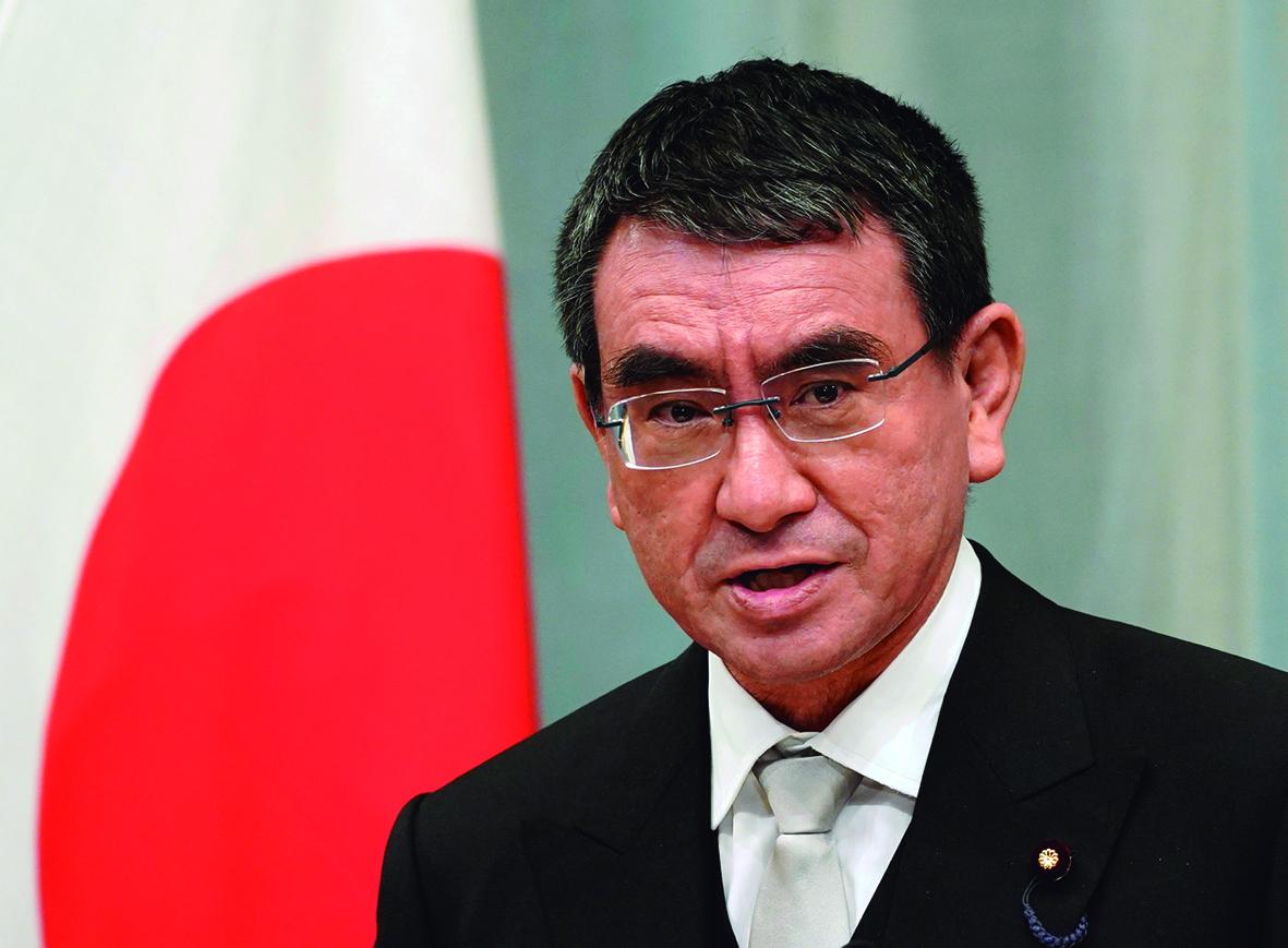 """Taro Kono, el """"Zar de las Vacunas"""" en Japón."""